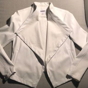 BB Dakota white faux leather jacket size small